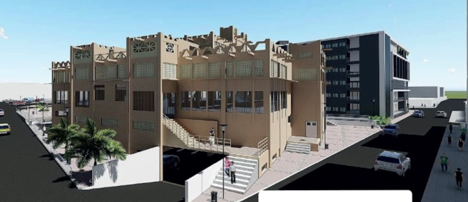 Projet de reconstruction: Le bâtiment central du marché Sandaga gardera sa forme architecturale