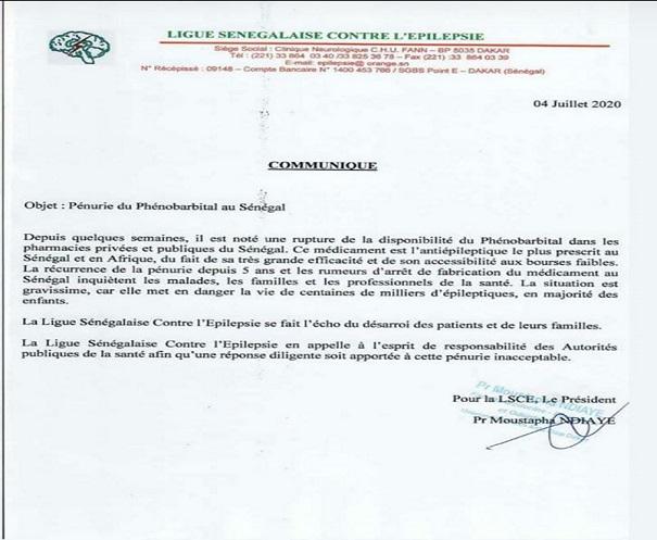 Alerte de la Ligue sénégalaise contre l'épilepsie: Grave menace sur les malades au Sénégal