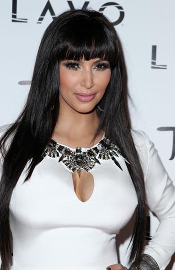 Kim Kardashian en robe de mariée