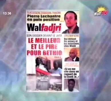 Revue de Presse de la RTS du jeudi 11 Octobre (Rts1)