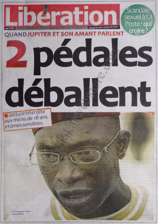 A la Une du Journal Libération du 12 Octobre