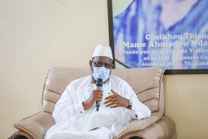 PHOTOS-Macky Sall à Thiénaba pour présenter ses condoléances !
