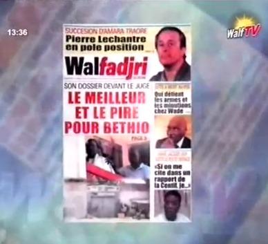 Revue de Presse de la RTS du mardi 16 Octobre