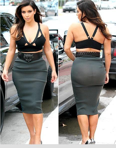 Kim Kardashian : son look osé