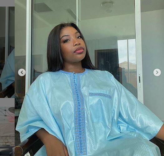 Tabaski: Venus, la fille de Youssou Ndour débarque avec un mini grand boubou très chic(Photos)