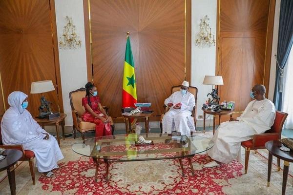 Education nationale: Diary Sow, 2 fois meilleure élève du Sénégal reçue par le Président Macky Sall