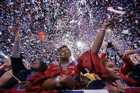Les démocrates à Chicago fêtent la victoire d'Obama