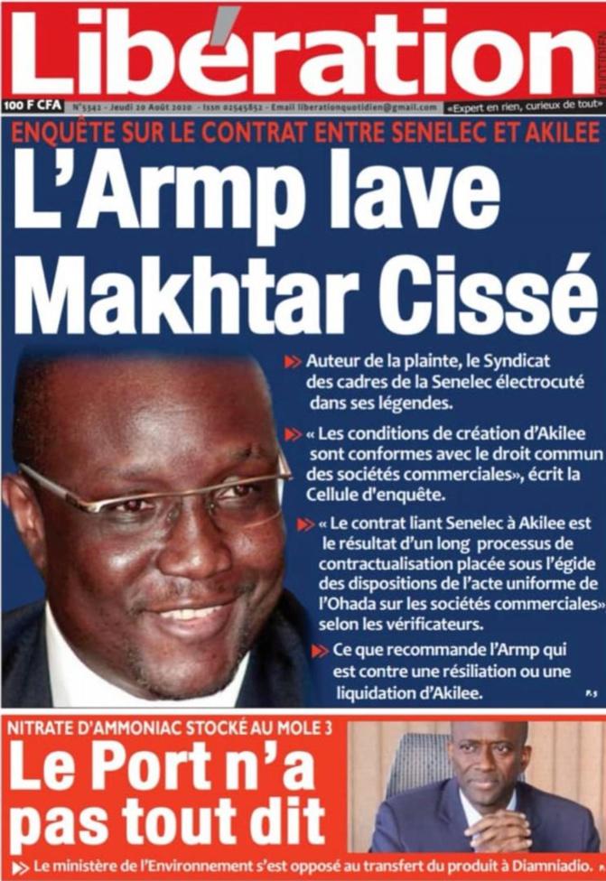 Rupture Du Contrat SENELEC- AKILEE : Les Raisons De La Précipitation De Papa Mademba BITEYE