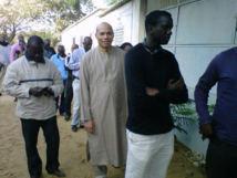 Karim Wade dans les locaux de la Section de recherches