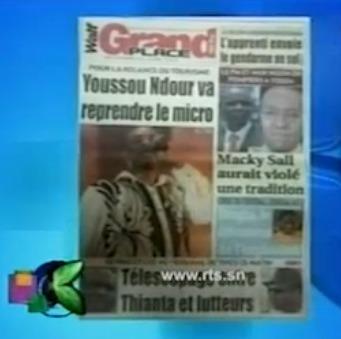 Revue de Presse Kenkelibaa du 20 Novembre 2012