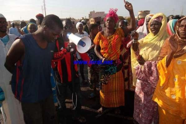 Sit-In de protestation à Lampsar: Les  populations arrêtent les travaux de l'Apix