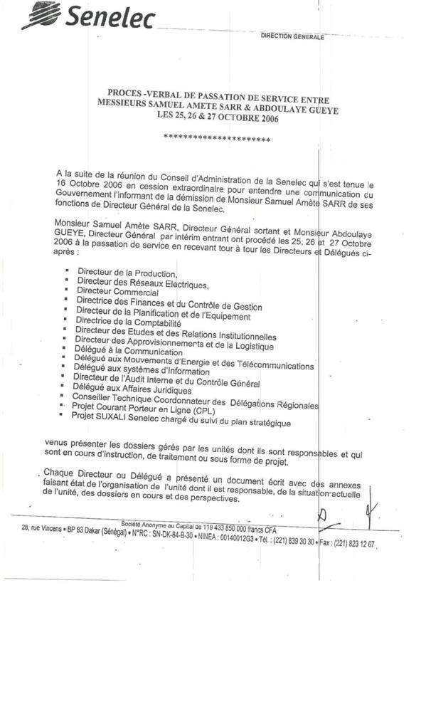 SENELEC : Toute la vérité sur gestion de Samuel Sarr (Documents)