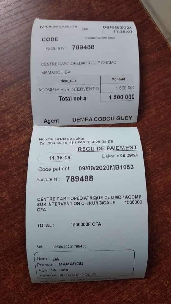 Appel à l'aide: Le basketteur Gorgui Sy Dieng paie la facture de 1 500 000 FCfa pour l'opération du jeune Mamadou Bâ