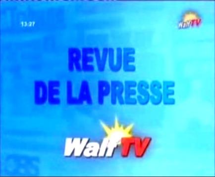 Revue de Presse du jeudi 29 novembre 2012 (Walf Tv)