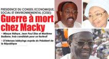 Présidence du Conseil Economique, Social et Environnemental: Trois candidats pour un fauteuil -Mbaye Ndiaye, Jean Paul Dias et Mme Badiane, la guerre à mort