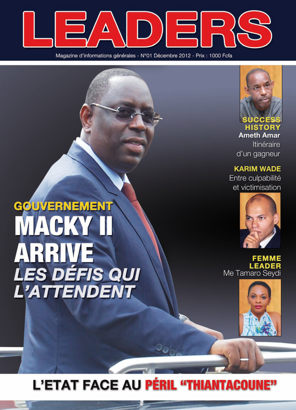 En Exclusivité : La couverture de votre journal Leaders