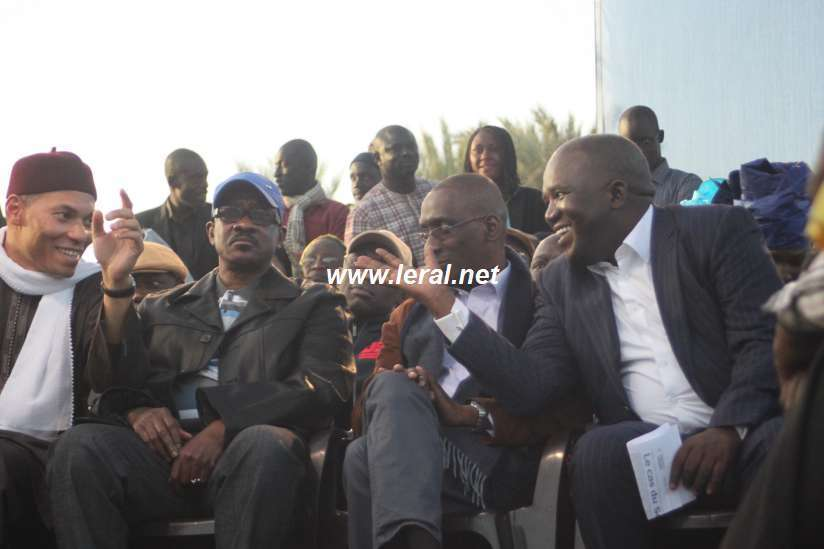 Karim Wade et Oumar Sarr rigolent, Madické Niang très concentré