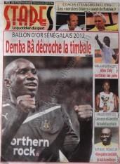 A la Une du Journal Stades du vendredi 07 Décembre 2012