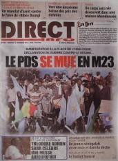 A la Une du Journal Direct Info du vendredi 07 Décembre 2012