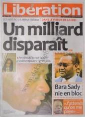 A la Une du Journal Libération du vendredi 07 Décembre 2012