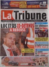 A la Une du Journal La Tribune du vendredi 07 Décembre 2012