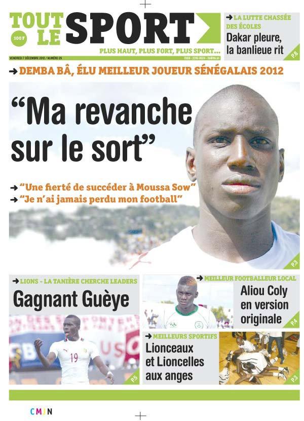 A la Une du Journal Tout Le Sport du vendredi 07 Décembre 2012