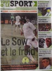 A la Une du Journal Tout Le Sport du Samedi 08 Décembre 2012