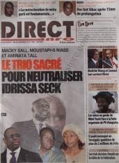 A la Une du Journal Direct Info du Samedi 08 Décembre 2012