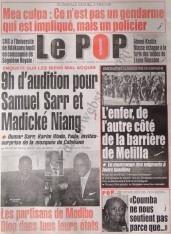A la Une du Journal Le Populaire du Samedi 08 Décembre 2012