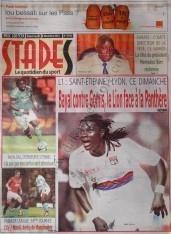 A la Une du Journal Stades du Samedi 08 Décembre 2012