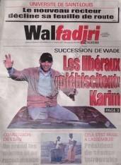 A la Une du Journal Walfadjri du Samedi 08 Décembre 2012