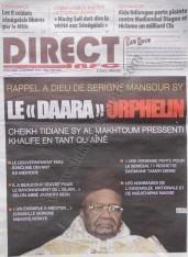 A la Une du Journal Direct Info du lundi 10 Décembre 2012
