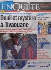 A la Une du Journal Enquête du lundi 10 Décembre 2012