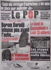 A la Une du Journal Le Populaire du lundi 10 Décembre 2012