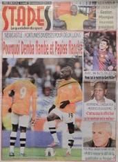 A la Une du Journal Stades du lundi 10 Décembre 2012