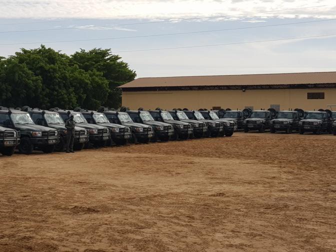 Réception d'un lot de 208 véhicules utilitaires et de combat à la Dirpa