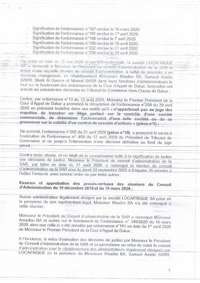 Conseil de la SAR bloqué par la sécurité rapprochée de Khadim Ba : les contours d'un Coup d'état avortée à la SAR