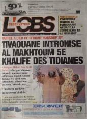 A la Une du Journal L'Observateur du mercredi 12 Décembre 2012