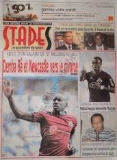 A la Une du Journal Stades du mercredi 12 Décembre 2012