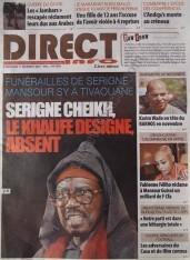 A la Une du Journal Direct Info du mercredi 12 Décembre 2012