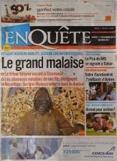 A la Une du Journal Enquête du mercredi 12 Décembre 2012