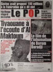 A la Une du Journal Le Populaire du mercredi 12 Décembre 2012
