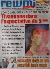 A la Une du Journal Rewmi du mercredi 12 Décembre 2012