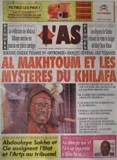 A la Une du Journal L'As du mercredi 12 Décembre 2012
