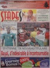 A la Une du Journal Stades du Jeudi 13 Décembre 2012