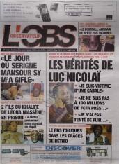 A la Une du Journal L'Observateur du Jeudi 13 Décembre 2012