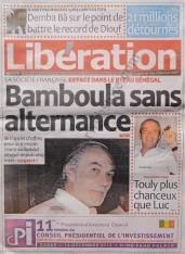 A la Une du Journal Libération du Jeudi 13 Décembre 2012