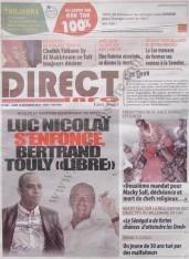 A la Une du Journal Direct Info du Jeudi 13 Décembre 2012
