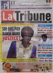 A la Une du Journal La Tribune du Jeudi 13 Décembre 2012