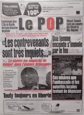 A la Une du Journal Le Populaire du Jeudi 13 Décembre 2012